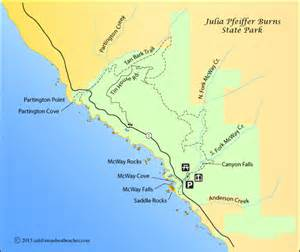 big sur california map the gallery for gt pfeiffer map