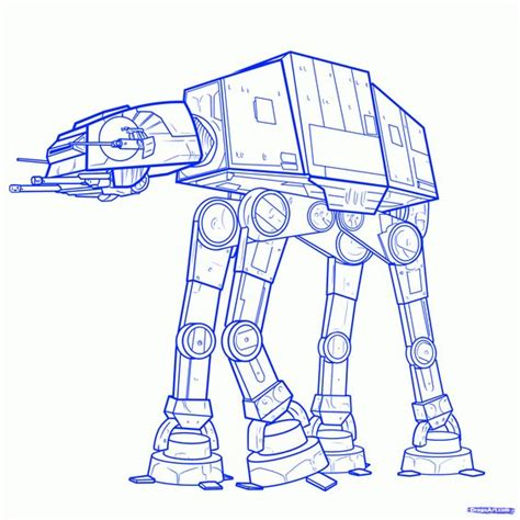 imperial walker coloring pages how to draw an imperial walker imperial walker step 9