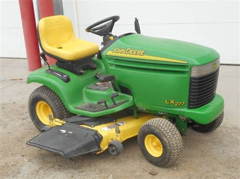 regular or premium gas for lawn mower deere lx277 lawn tractor le deere lawn