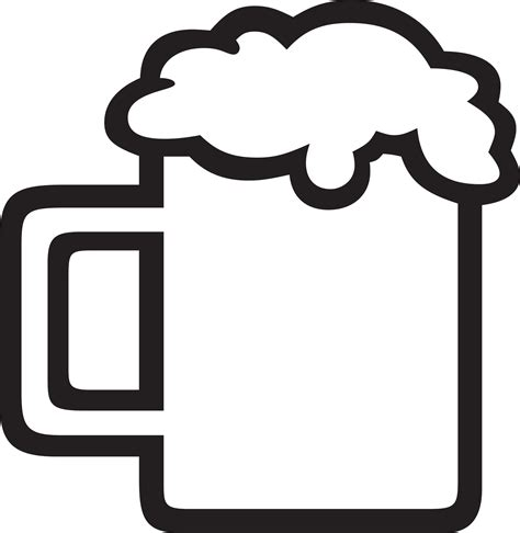 cartoon beer black and white best 15 beer mug black and white clipart kid file free