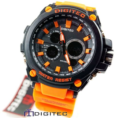 Digitec Dg 2023t Dual Time Series Black Original digitec dg 2069t orange black jam tangan wanita dan pria murah analog digital dual time