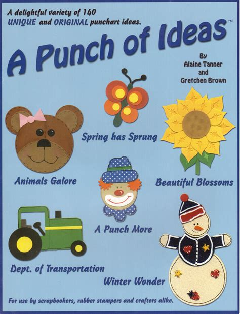 Paper Punch Craft Designs - a punch of ideas book crafter s box