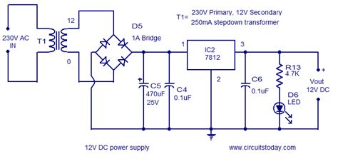 capacitor cap value for wave rectifier circuit