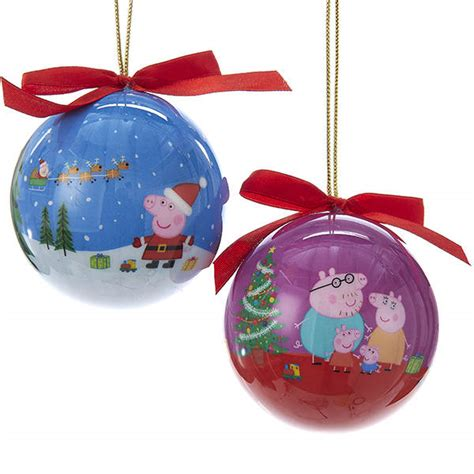 peppa pig decoupage ball ornament item 106090 the
