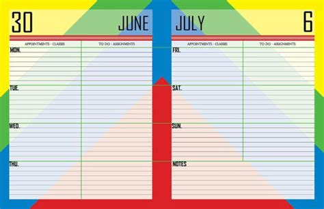 printable letter sized rainbow colored july 2014 june 2015