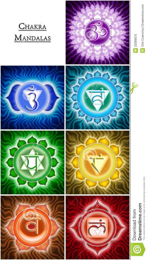 chakra mandalas stock illustration illustration of