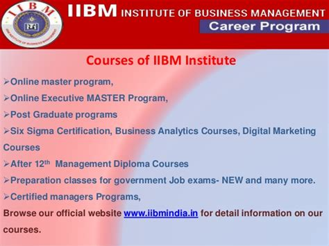 Iibm Mba Course by Iibm Institute Presentation 1