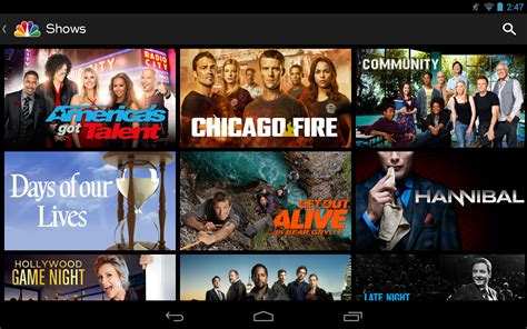 nbc tv app for android nbc for android app hits play