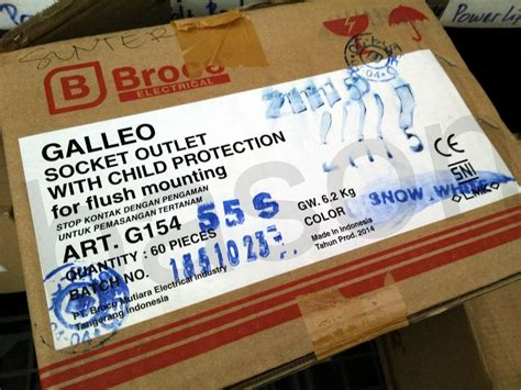 Stop Kontak Broco Galleo Ib G154 With Child Protection jual broco g154 55s gal socket outlet child protection
