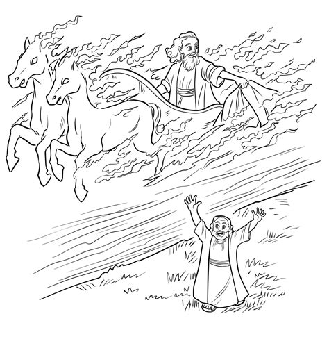 free bible coloring pages elijah elijah and chariot of coloring page children s