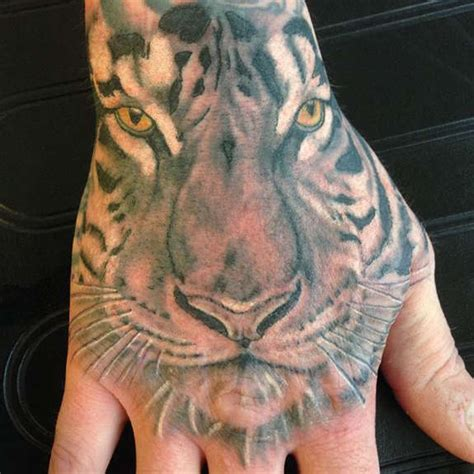 tiger hand tattoo outstanding tiger design idea for