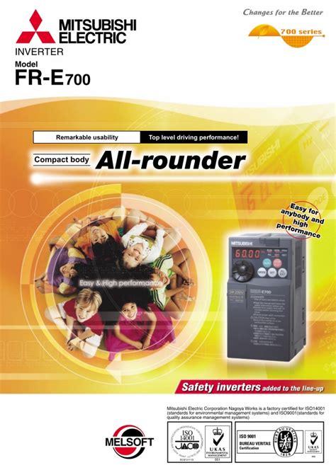 mitsubishi e700 catalog inverter fr e700 mitsubishi electric beeteco