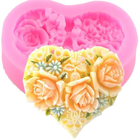 Cake Decorating Flower Molds by Heat Shape Flower Silicone Cake Mold Soap Forms Molds