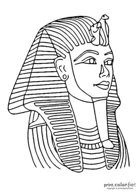 king tut mask template tutankhamun mask dessin personage