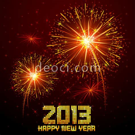 new year 2013 background vector free vector 2013 happy new year fireworks background design