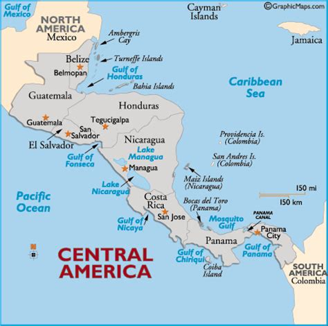 map of central america with major cities april 2010 gnrworld s unofficial