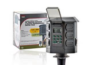 tork 806d 7 day 6 outlet digital outdoor stake timer w
