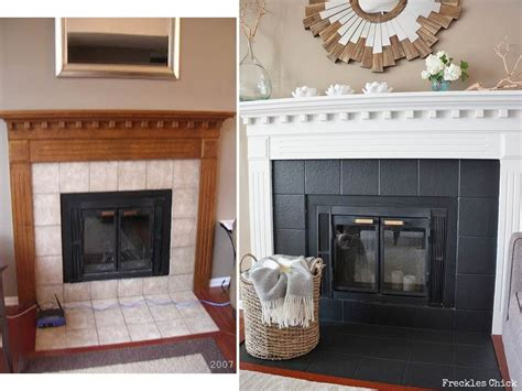 Fireplace Mini Facelift For The Home Pinterest Painting Fireplace Surround