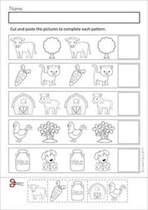 pattern worksheet cut and paste 1000 images about life on the farm preschool theme on