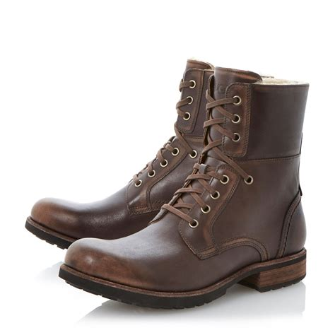 lace up ugg boots ugg larus lace up warm lined boots in brown for
