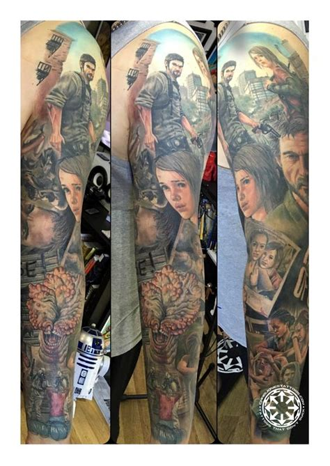 the last of us tattoo last of us sleeve by chris jones tattoos