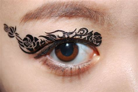 eye tattoo temporary 1 pair eye temporary tattoo holiday makeup eyeshadow black