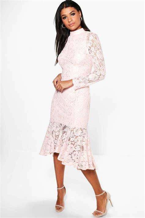Hem Batique2 boutique emzy lace peplum hem midi dress at boohoo