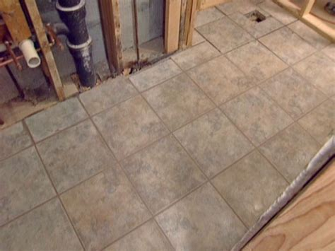 Installing Floor Tile How To Install A Tile Bathroom Floor How Tos Diy