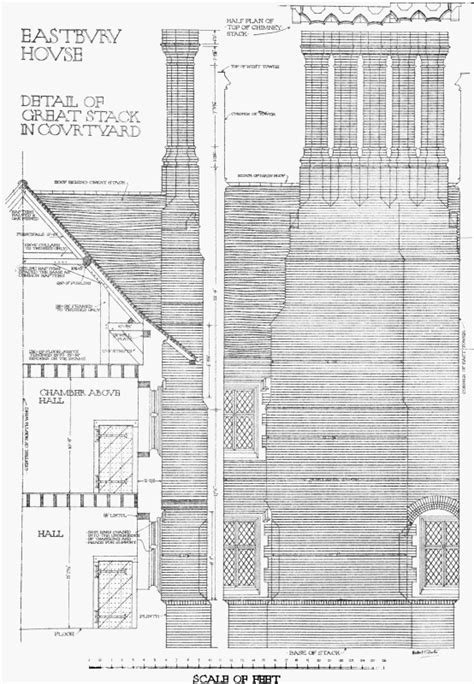 Plate 11: Detail of chimney stack | British History Online