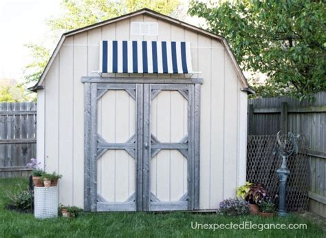 Garden Shed With Awning by Diy Shed Awning And Easy Elegance