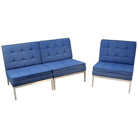 three piece sofa three piece knoll sectional sofa or three lounge chairs