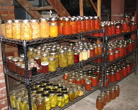 home canning up from the ground