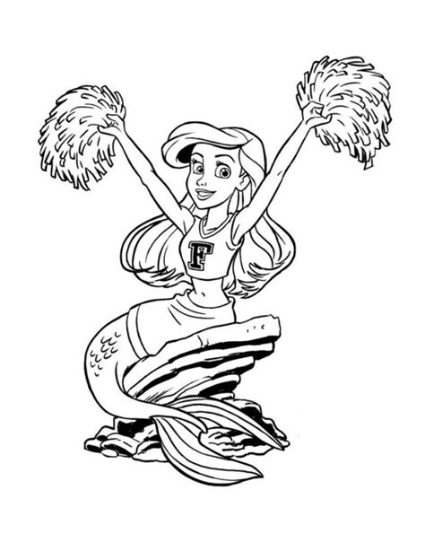 cheerleader coloring page coloring home