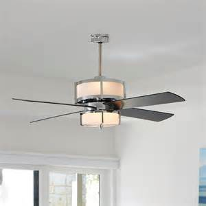 modern ceiling fan with light upscale modern ceiling fan 2 finishes ceiling fans