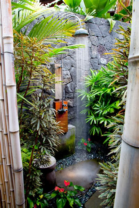 Tropical Patio Decor by Lovely Outdoor Shower Fixtures Decorating Ideas Gallery In