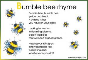 bumble bee preschool rhyme activity