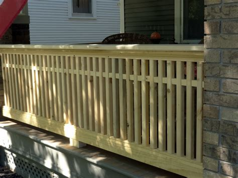 porch banister milestone thirty one feet of craftsman style porch