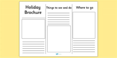 editable holiday brochure template holiday brochure