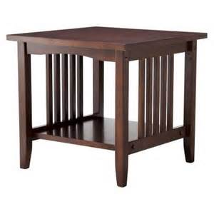 linon mission end table espresso target