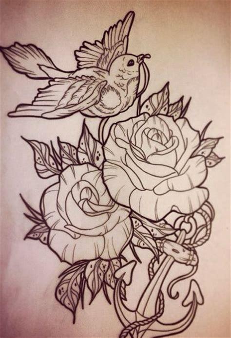 bird rose rose pinterest femenino y tatuajes