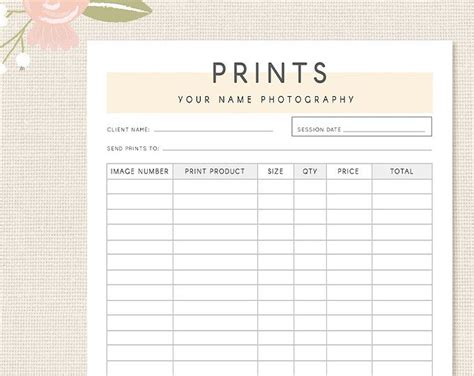your client form template photography forms client booking form template for