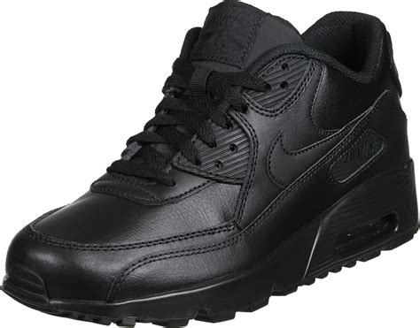 leather nike shoes nike air max 90 leather gs shoes black