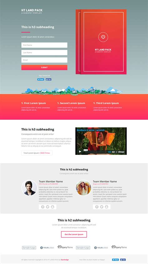 ht land ebook landing page templates group