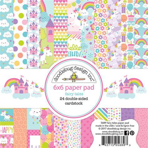 doodlebug design doodlebug design tales 6x6 paper pad