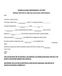 letter template for bank 7 bank reference letter templates free sle exle