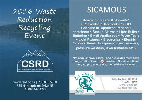 best 28 free disposal events columbia shuswap free