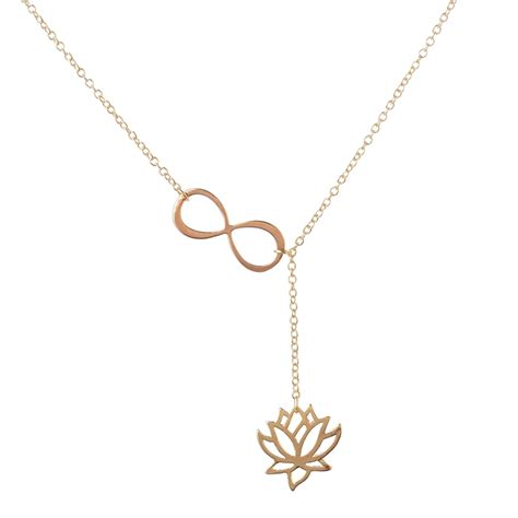 infinity jewelers infinity lotus lariat necklace