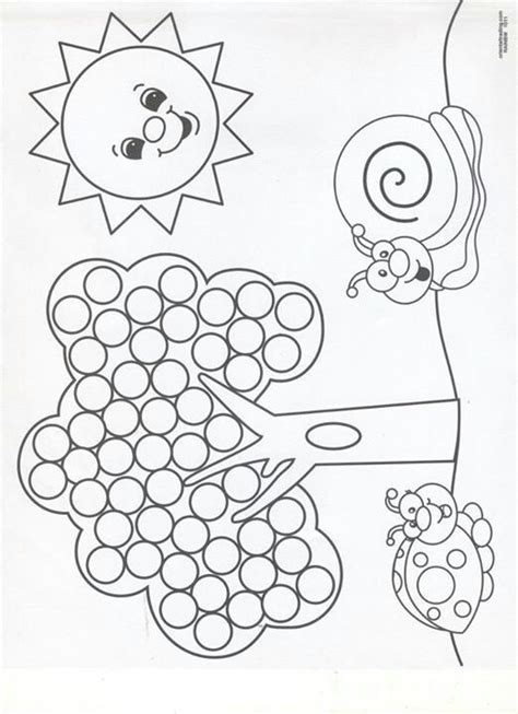 printable dot art worksheets q tip painting sheets dessin activites divers a