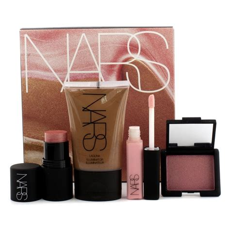 Nars Throat Blush And Lipgloss Set by Nars Sea Of Makeup Set 1x Illuminator 1x Mini The