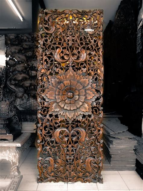 wall decor sculpture teak wood carving wall sculpture panel for bed